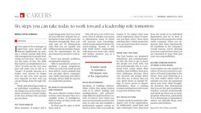 leadership role